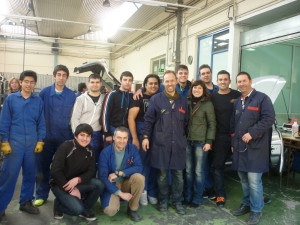 Grupo de alumnos, profesores y colaboradores del proyecto de sonido 2013-14