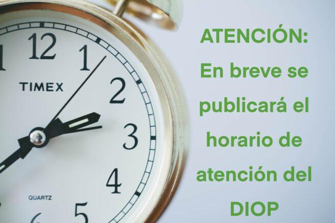 Horario DIOP